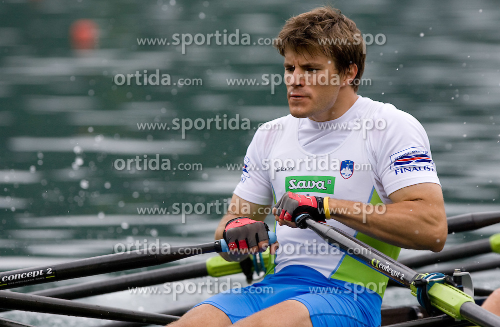 Andraz Krek competes during finals at Rowing World Cup  on May 30, 2010, at Bled's lake, Bled, Slovenia. (Photo by Vid Ponikvar / Sportida)