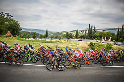 Peloton at Crni Kal during Stage 1 of 24th Tour of Slovenia 2017 / Tour de Slovenie from Koper to Kocevje (159,4 km) cycling race on June 15, 2017 in Slovenia. Photo by Vid Ponikvar / Sportida