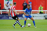 Hartlepool United defender Jake Carroll (3) during the EFL Sky Bet League 2 match between Exeter City and Hartlepool United at St James' Park, Exeter, England on 13 August 2016. Photo by Graham Hunt.