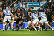 Buenos Aires (Bs. As. Province, ARGENTINA), September 29, 2018: Ofa Tuungafasi from All Blacks runs with the ball during the International rugby match during the Rugby Championship between Argentina v New Zealand at José Amalfitani Stadium, on Saturday, September 29, 2018 in Buenos Aires, Argentina.<br /> Copyright photo: Pablo A. Gasparini / www.photosport.nz