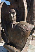 The Eisenhower bust at the Alaska Statehood Monument in downtown Anchorage, Alaska. The statue was placed in 1990 as part of the celebration of 75th anniversary of Anchorage being founded in 1915.