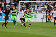 Forest Green Rovers Liam Noble (15) clears the ball during the Vanarama National League match between Dover Athletic and Forest Green Rovers at Crabble Athletic Ground, Dover, United Kingdom on 10 September 2016. Photo by Shane Healey.