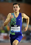 Jakob Ingebrigtsen (NOR) places second in the 1,500m in 3:31.62 during the IAAF Diamond League final at the 44th Memorial Van Damme at King Baudouin Stadium, Friday, Sept. 6, 2019, in Brussels, Belgium. (Jiro Mochizuki/Image of Sport)