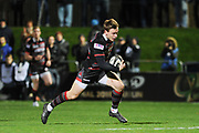 Nathan Fowles runs in a try during the Guinness Pro 14 2017_18 match between Edinburgh Rugby and Ospreys at Myreside Stadium, Edinburgh, Scotland on 4 November 2017. Photo by Kevin Murray.
