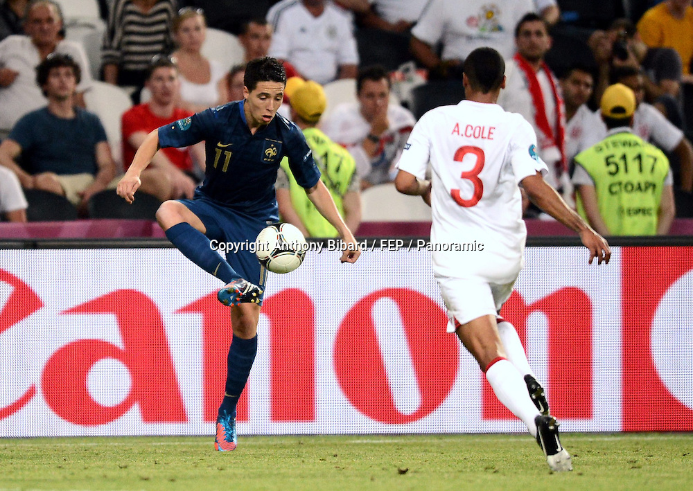 Samir Nasri (France) contre Ashley Cole (Angleterre)