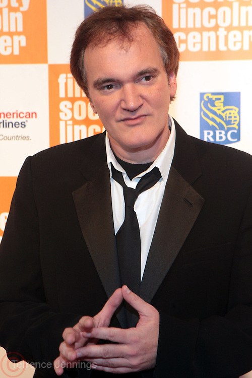 New York, NY- May 02: Filmmaker Quentin Tarantino attends The Film Society's Annual Gala Presentation of the 38th Annual Chaplain Award Honoring Sidney Poitier held at Lincoln Center on May 2, 2011 in New York City. Photo Credit: Terrence Jennings