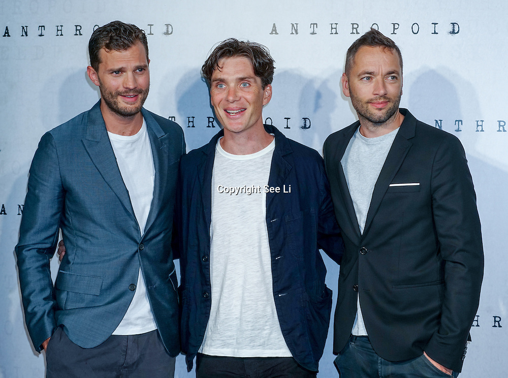 LONDON, ENGLAND - AUGUST 30: Jamie Dornan, Cillian Murphy , Sean Ellis attend the UK premiere of 'Anthropoid' at BFI Southbank on August 30, 2016 in London, England. (Photo by See Li/Picture Capital)
