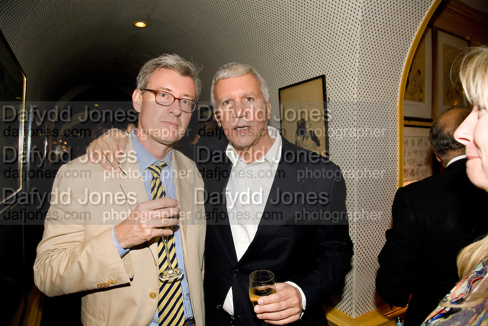 JACK BANKOWSKY; LARRY GAGOSIAN, Richard Prince opening at the Serpentine gallery and afterwards at Annabels. London. 25 June 2008 *** Local Caption *** -DO NOT ARCHIVE-© Copyright Photograph by Dafydd Jones. 248 Clapham Rd. London SW9 0PZ. Tel 0207 820 0771. www.dafjones.com.