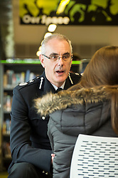 Pictured: <br /> Police Scotland Chief Constable Phil Gormley unveiled details of the 'Your View Counts' exercise, which will help shape policing priorities throughout the country in Edinburgh today. <br /> Ger Harley | EEm 7 April 2016
