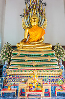 golden Buddha shrine Wat Pho temple Bangkok Thailand