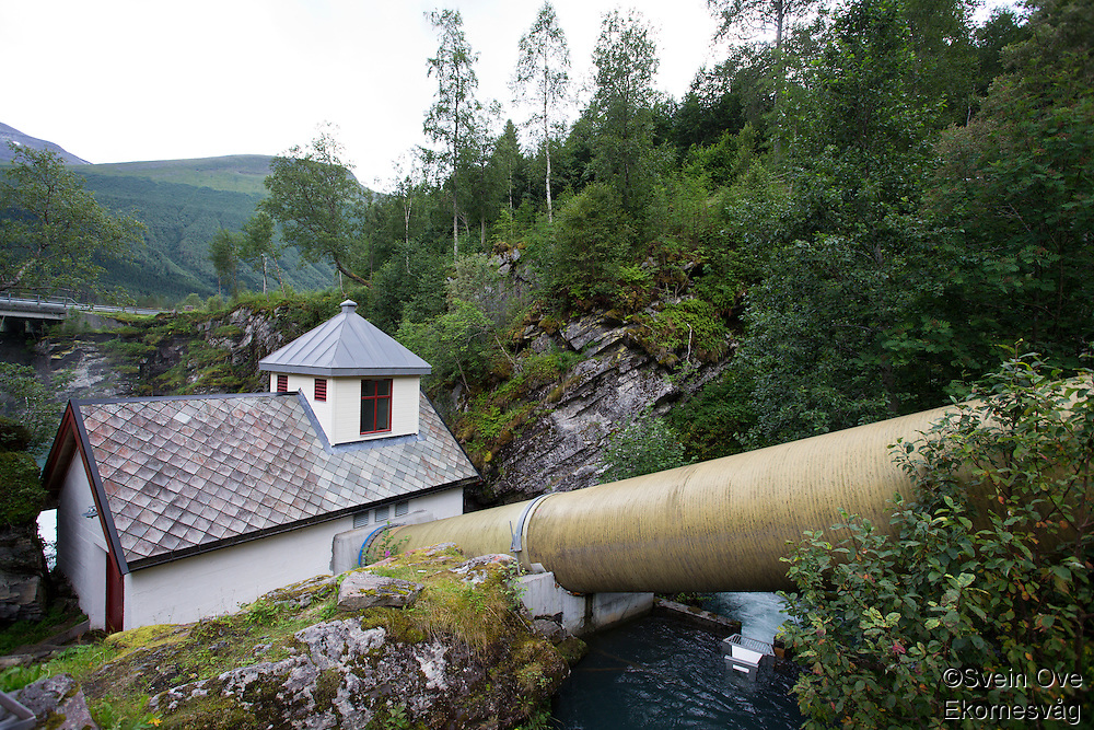 Hoelsfossen Elverk AS i Valldalen.<br /> Foto: Svein Ove Ekornesvåg