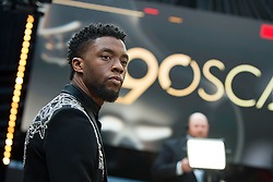 March 4, 2018 - Hollywood, California, U.S. - CHADWICK BOSEMAN arrives on the red carpet of The 90th Oscars at the Dolby Theatre in Hollywood. (Credit Image: © Matt Petit/AMPAS via ZUMA Wire/ZUMAPRESS.com)