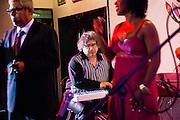 Havana, Cuba: Jazz musician Cesar Lopez jamming in a Cuban nightclub  (Photo: Ann Summa).