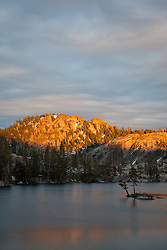 """Paradise Lake Sunset 4"" - Photograph of Paradise Lake in the Tahoe National Forest taken at sunset."