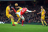 Football - 2016 / 2017 Premier League - Arsenal vs. Crystal Palace<br /> <br /> Olivier Giroud of Arsenal scores hs goal with a magnificent back kick over his head at The Emirates.<br /> <br /> COLORSPORT/ANDREW COWIE