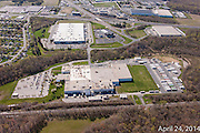 Aerial photograph of Frito Lay plant construction by Jeffrey Sauers of Commercial Photographics, Architectural Photo Artistry in Washington DC, Virginia to Florida and PA to New England