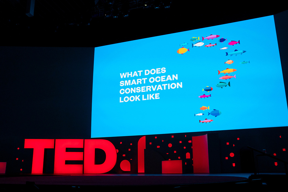 The Nature Conservancy's Audacious Project video at TED2019: Bigger Than Us. April 15 - 19, 2019, Vancouver, BC, Canada. Photo: Bret Hartman / TED
