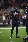 Houston Texans offensive tackle Julie'n Davenport (70) in action during the NFL week 8 regular season football game against the Miami Dolphins on Thursday, Oct. 25, 2018 in Houston. The Texans won the game 42-23. (©Paul Anthony Spinelli)
