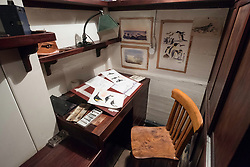 Interior of scientific officer's office on the RSS Discovery ship berthed at Discovery Point in Dundee ,Tayside, Scotland,