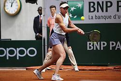 May 27, 2019 - Paris, France - Veronika Kudermetova during the match between .Caroline Wozniacki and Veronika Kudermetova at 2019 Roland Garros, in Paris, France, on May 27, 2019. (Credit Image: © Ibrahim Ezzat/NurPhoto via ZUMA Press)