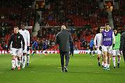 Wayne Rooney Forward of Manchester United and Michael Carrick Midfielder of Manchester United in warm up during the Europa League match between Manchester United and Fenerbahce at Old Trafford, Manchester, England on 20 October 2016. Photo by Phil Duncan.