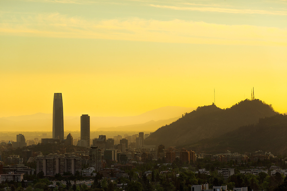 Panoramic view of Santiago de Chile <br /> <br /> For LICENSING and DOWNLOADING this image follow this link: http://www.masterfile.com/em/search/?keyword=600-07802567&amp;affiliate_id=01242CH84GH28J12OOY4<br /> <br /> For BUYING A PRINT of this image press the ADD TO CART button.<br /> <br /> Download of this image is not available at this site, please follow the link above.