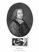 Blaise Pascal (1623-62) French philosopher, mathematician, physicist and theologian. Stipple engraving 1821