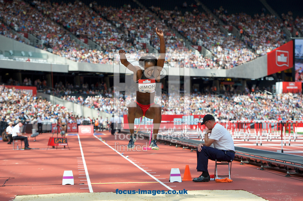 Funmi Jimoh (United States) competing in the Women&rsquo;s long jump during the M&uuml;ller Anniversary Games in the Stadium at Queen Elizabeth Olympic Park, London, UK<br /> Picture by Alan Stanford/Focus Images Ltd +44 7915 056117<br /> 23/07/2016