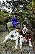 traditional wedding  ///Suwon traditional folk village  Seoul  Korea   mariage a l'ancienne, cortege nuptial///Suwon village folklorique  Seoul  Coree  ///    L0006969  /  R00030  /  P107243