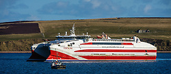 Pentland Ferries' mv Pentalina arriving at St Margaret's Hope, South Ronaldsay, Orkney Islands, Scotland<br /> <br /> (c) Andrew Wilson | Edinburgh Elite media