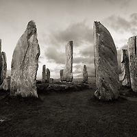 Callanish Stone Circle at sunset, Isle of Lewis, northwest Scotland.