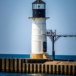 St. Joseph outer lighthouse photo. The St. Joseph Lighhouses are located in Southwestern Michigan on Lake Michigan. The photo is high resolution and was taken in 2013. Image Copyright © Paul Velgos All Rights Reserved.