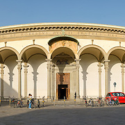 High resolution panorama of piazza in Florence (Firenze)