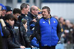 Bath Rugby first team coach Toby Booth speaks with supporters in the crowd during the pre-match warm-up - Mandatory byline: Patrick Khachfe/JMP - 07966 386802 - 05/01/2019 - RUGBY UNION - Sixways Stadium - Worcester, England - Worcester Warriors v Bath Rugby - Gallagher Premiership Rugby