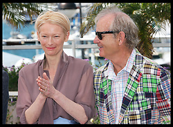 Tilda Swinton and Bill Murray at a photo-call for their new film Moonrise Kingdom on the opening day of the Cannes Film Festival, Wednesday  16th May 2012. Photo by: Stephen Lock / i-Images