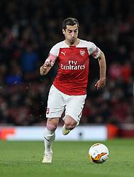 Henrikh Mkhitaryan of Arsenal on the ball - Mandatory by-line: Arron Gent/JMP - 02/05/2019 - FOOTBALL - Emirates Stadium - London, England - Arsenal v Valencia - UEFA Europa League Semi-Final 1st Leg