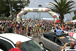 Start 2nd Stage (189,6 km) at 18th Tour de Slovenie 2011, on June 17, 2011, in Koper, Slovenia. (Photo by Urban Urbanc / Sportida)