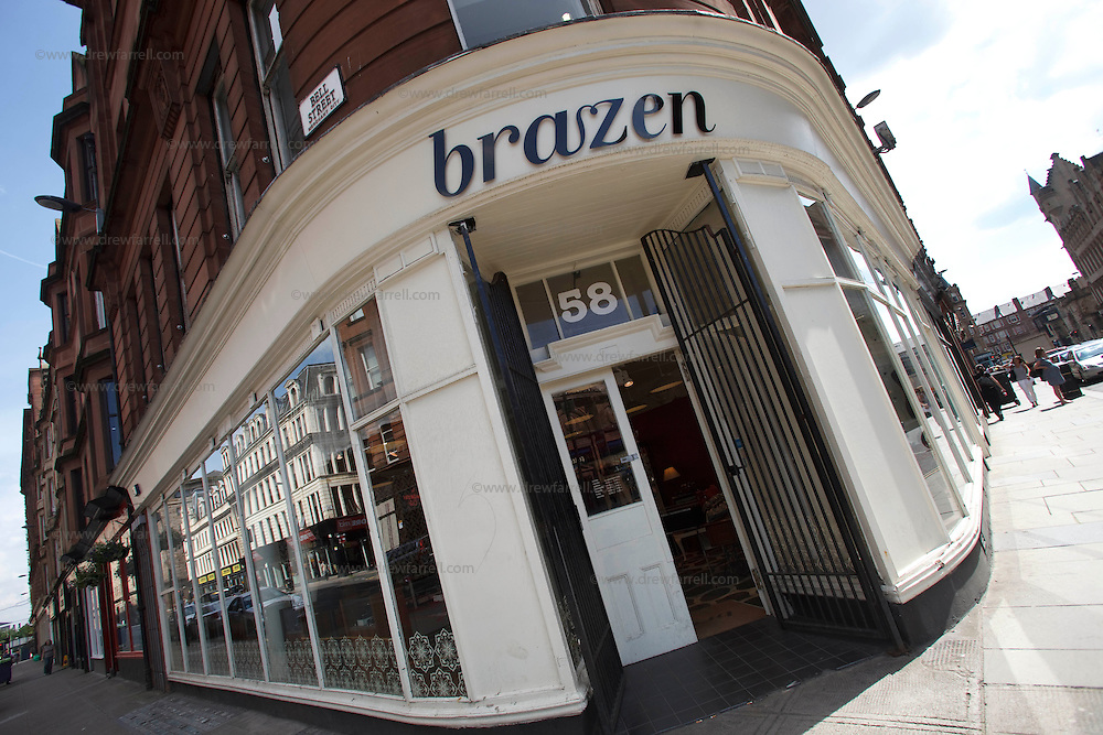 Picture shows : Brazen Boutique and workshop Albion Street at Bell Street. Merchant City Area, Glasgow. Travel guide feature..Picture Drew Farrell. tel : 07721-735041......