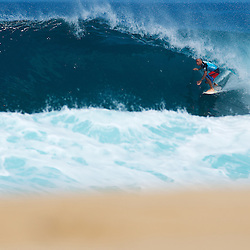 Shane Dorian at the Billabong Pipeline Masters 2010.