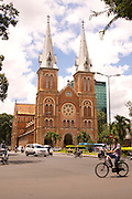The Saigon Notre-Dame Basilica in modern Saigon (Basilica of Our Lady of The Immaculate Conception).