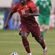 Varela, Portugal, in action during the Portugal V Ireland International Friendly match in preparation for the 2014 FIFA World Cup in Brazil. MetLife Stadium, Rutherford, New Jersey, USA. 10th June 2014. Photo Tim Clayton