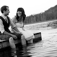 Lynn and Damian take a moment to get their feet wet after their Maple Ridge wedding near Vancouver, British Columbia.