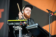 Jack Garratt performs on the main stage at the Aviemore Stopover festival on August 1, 2015 in Aviemore, Scotland.