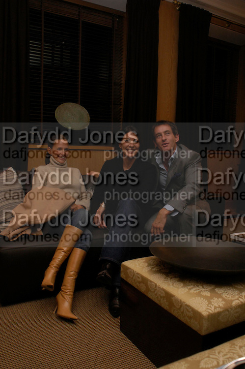 Dawn Laren, Gina Bellman and Tim Jefferies. Candy &amp; Candy. Apartment launch party Fifth Floor, 17-22 Trevor Square Tim Jefferies<br />