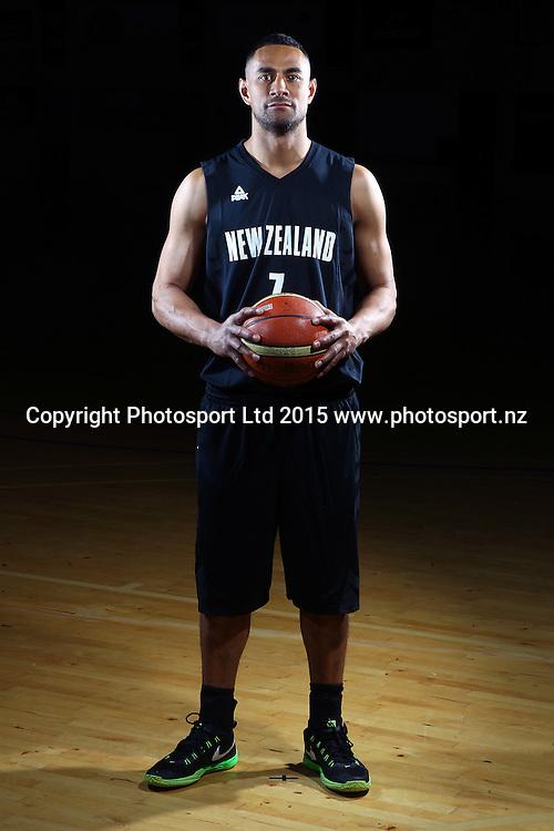 Mika Vukona, Tall Blacks, New Zealand national basketball team profile shots. Breakers Gym, Auckland. 17 July 2015. Copyright Photo: William Booth / www.photosport.nz