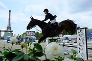 Jennifer Gates riding Dolinn during the Longines Paris Eiffel Jumping 2018, on July 5th to 7th, 2018 at the Champ de Mars in Paris, France - Photo Christophe Bricot / ProSportsImages / DPPI
