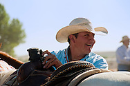 Crow Fair, Indian rodeo, Team Roper, Crow Indian Reservation, Montana, Wacie Real Bird, Crow