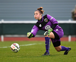 Bristol Academy's Mary Earps in action during the FA Women's Super League match between Bristol Academy Women and Chelsea Ladies at Stoke Gifford Stadium on 2 April 2015 in Bristol, England - Photo mandatory by-line: Paul Knight/JMP - Mobile: 07966 386802 - 02/04/2015 - SPORT - Football - Bristol - Stoke Gifford Stadium - Bristol Academy Women v Chelsea Ladies - FA Women's Super League