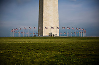 The Washington Monument on the National Mall in Washington, DC on June 3, 2008.