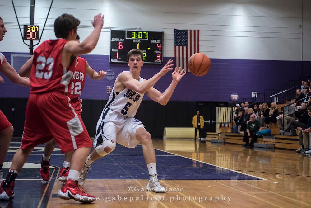 John Jay Varsity Basketball game at John Jay High School on January 13, 2016. (photo by Gabe Palacio)